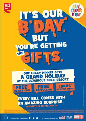 4c5628bb37a Café Coffee Day celebrates birthday with exciting offers for customers