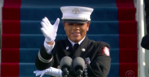 Andrea Hall at President Joe Biden's Inauguration led the Pledge of Allegiance in Sign Language.