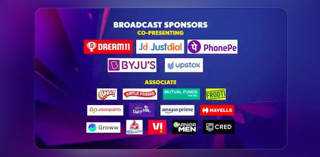 IPL 2021's Television Broadcast Sponsors